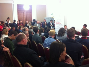 Standing room only at a discussion on combating Ukip