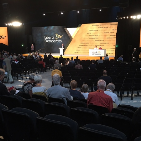 Inside the hall, Liberal Democrats 2018