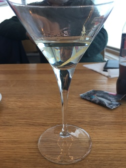 A martini in the Piz Gloria restaurant