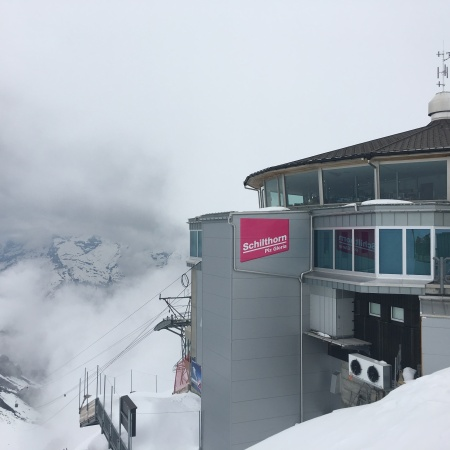 Piz Gloria up in the clouds