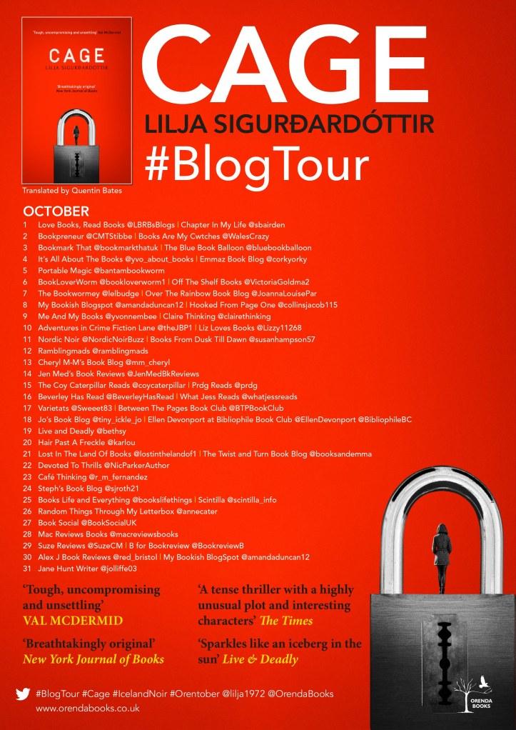 Cage Blog Tour banner