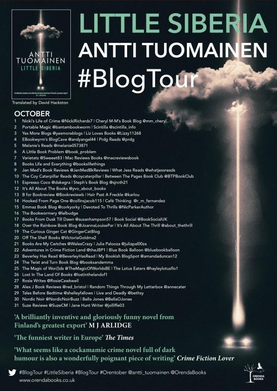 Blog tour poster for Little Siberia
