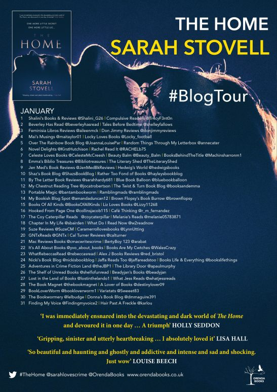 The Home blog tour poster
