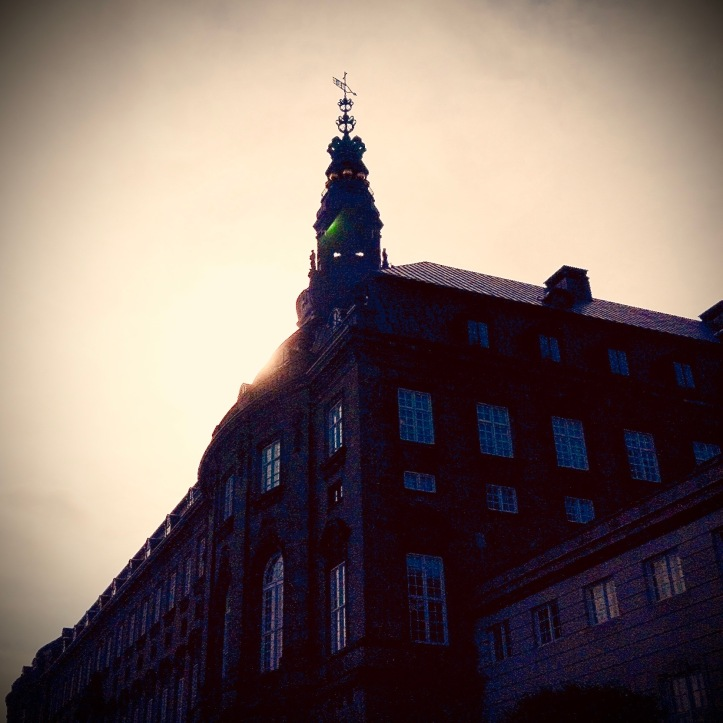 Christiansborg looming over the viewer