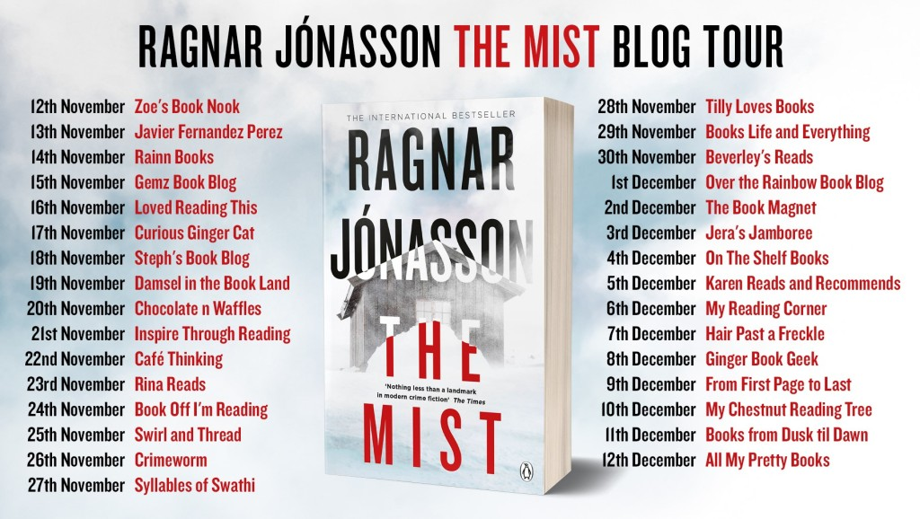 blog tour card for The Mist