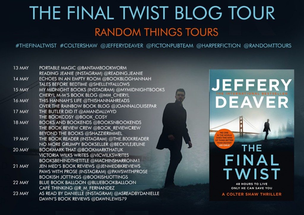 Blog tour poster for the Final Twist by Jeffery Deaver