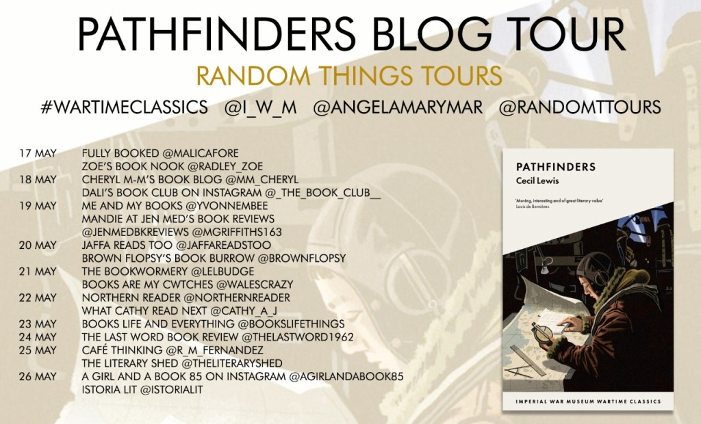 Blog tour poster for Pathfinders by Cecil Lewis