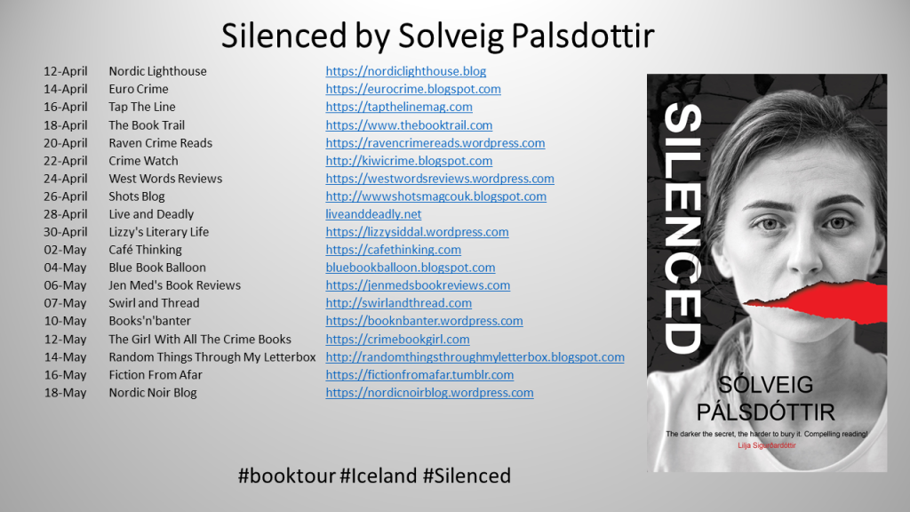 Silenced blog tour poster