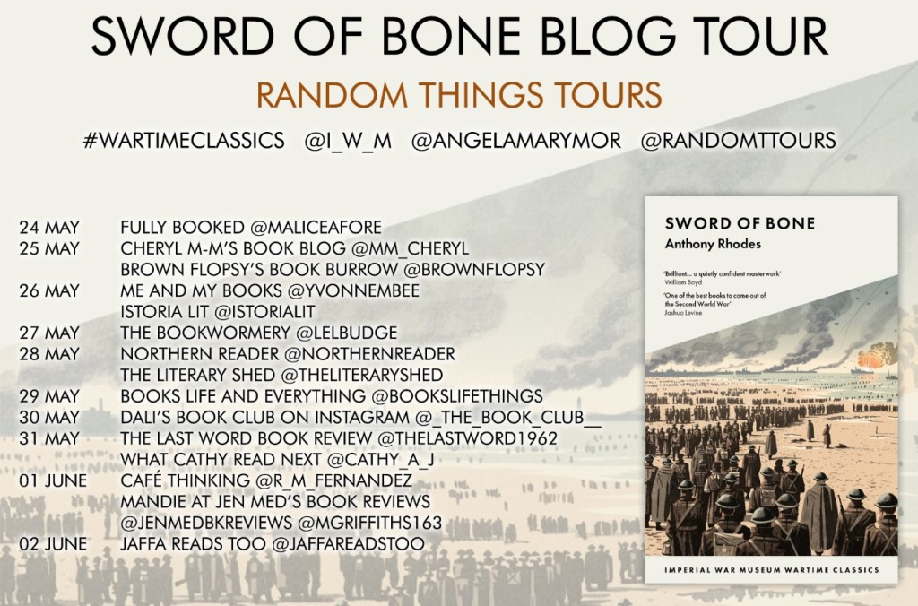 Blog tour poster for Sword of Bone by Anthony Rhodes