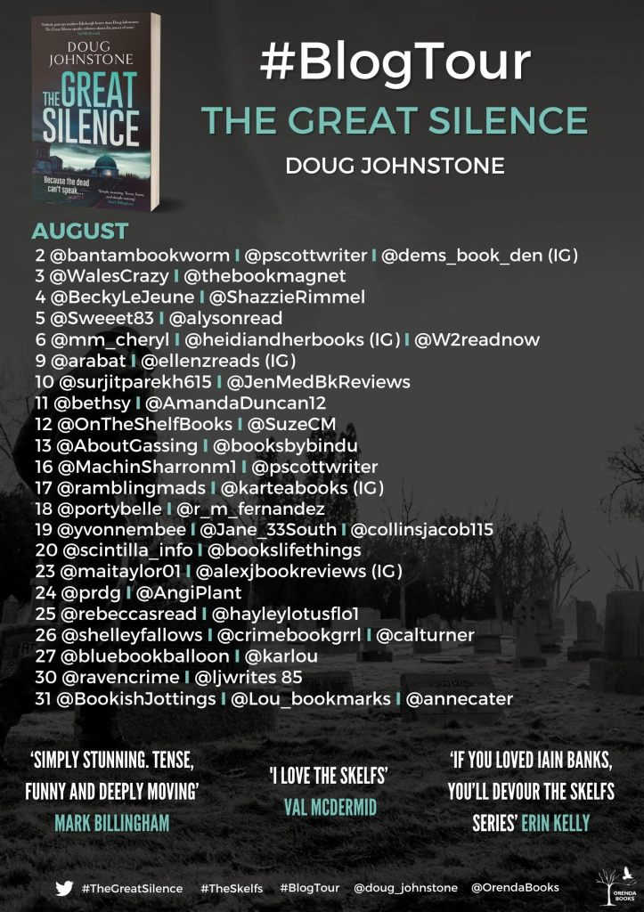 Blog tour poster for The Great Silence
