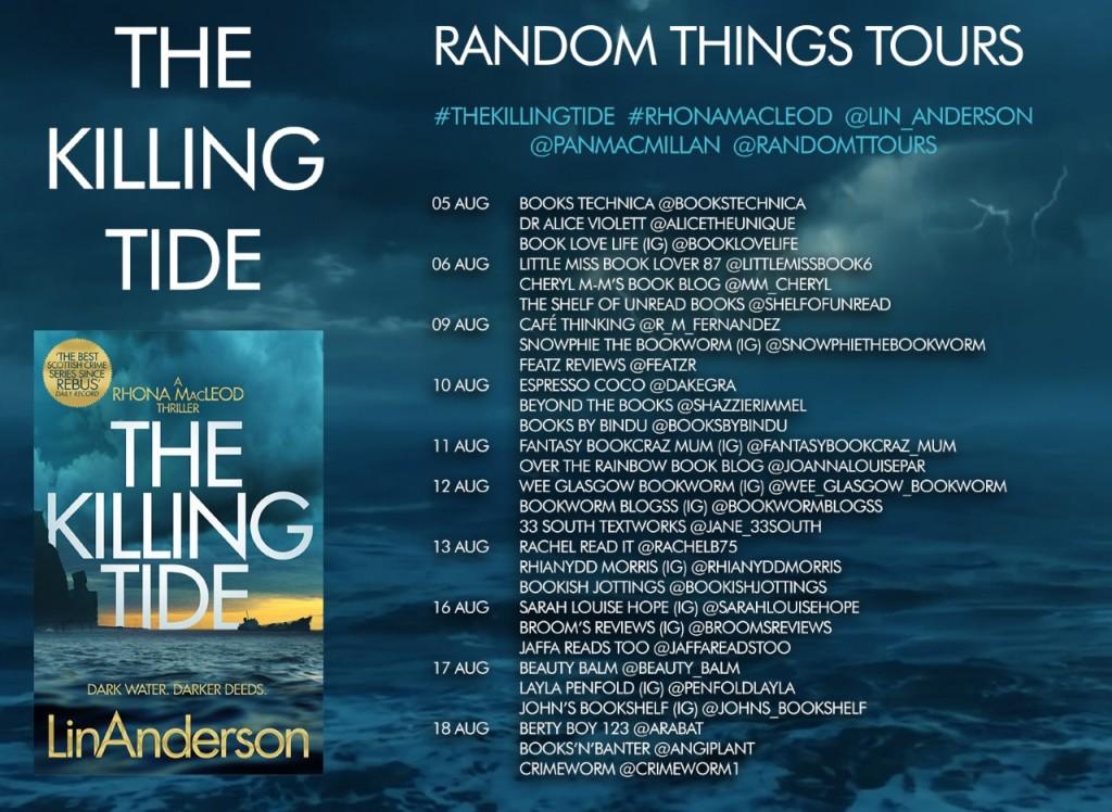 Blog tour poster for the Killing Tide