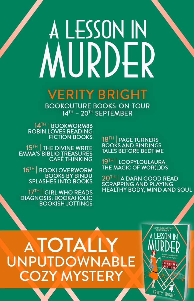 A Lesson in Murder blog tour poster