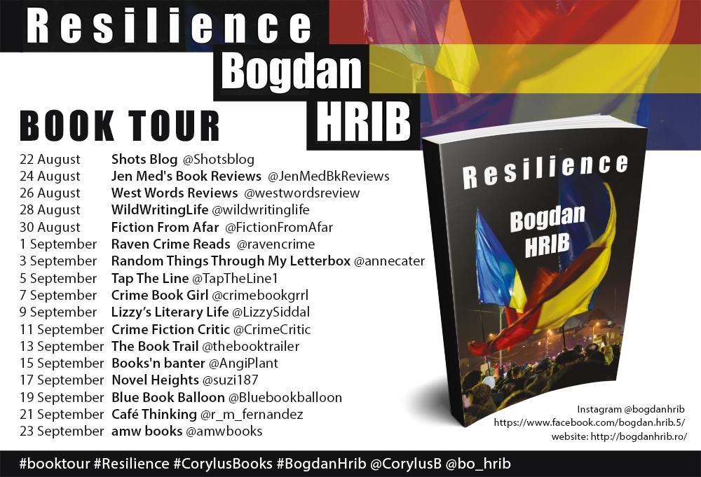 Resilience by Bogdan Hrib - blog tour poster